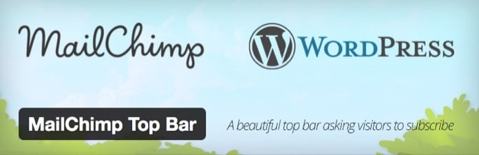 Mailchimp for wordpress – Top Bar