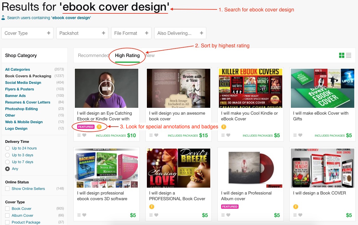 Find a Cover Designer on Fiverr