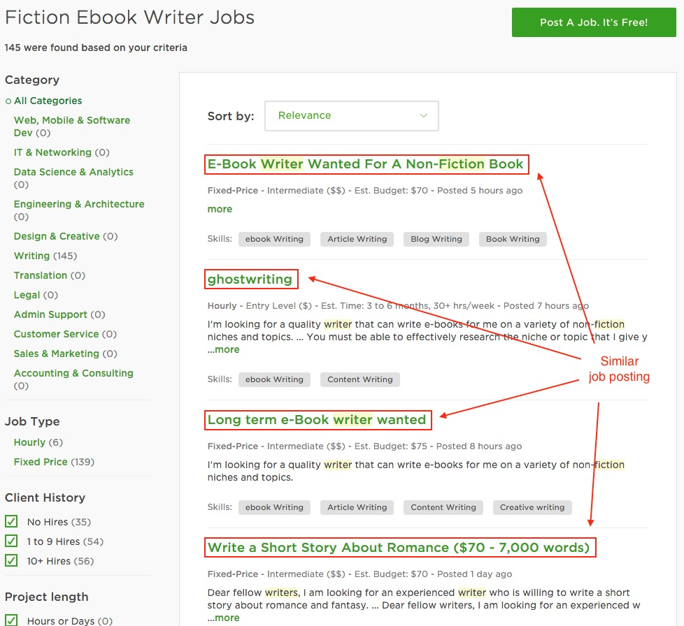 ebook Writer on Upwork
